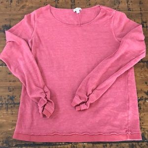 EUC Splendid Tahoe Ruched Sleeve Top size Small